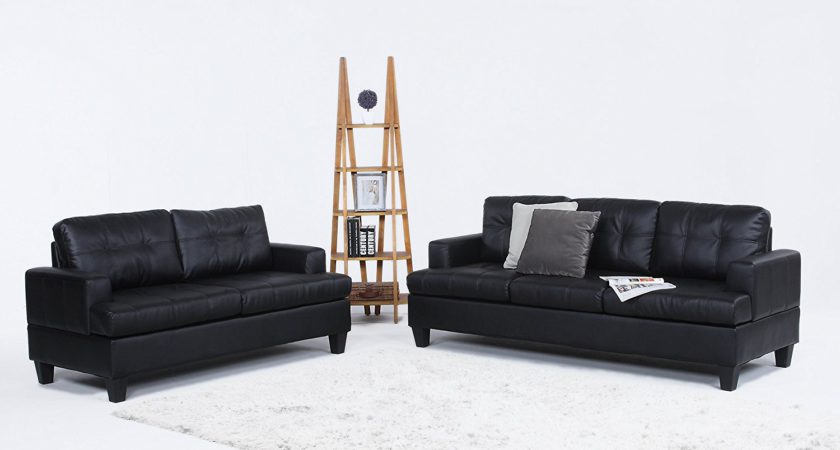 Modern Black Bonded Leather Sofas Review